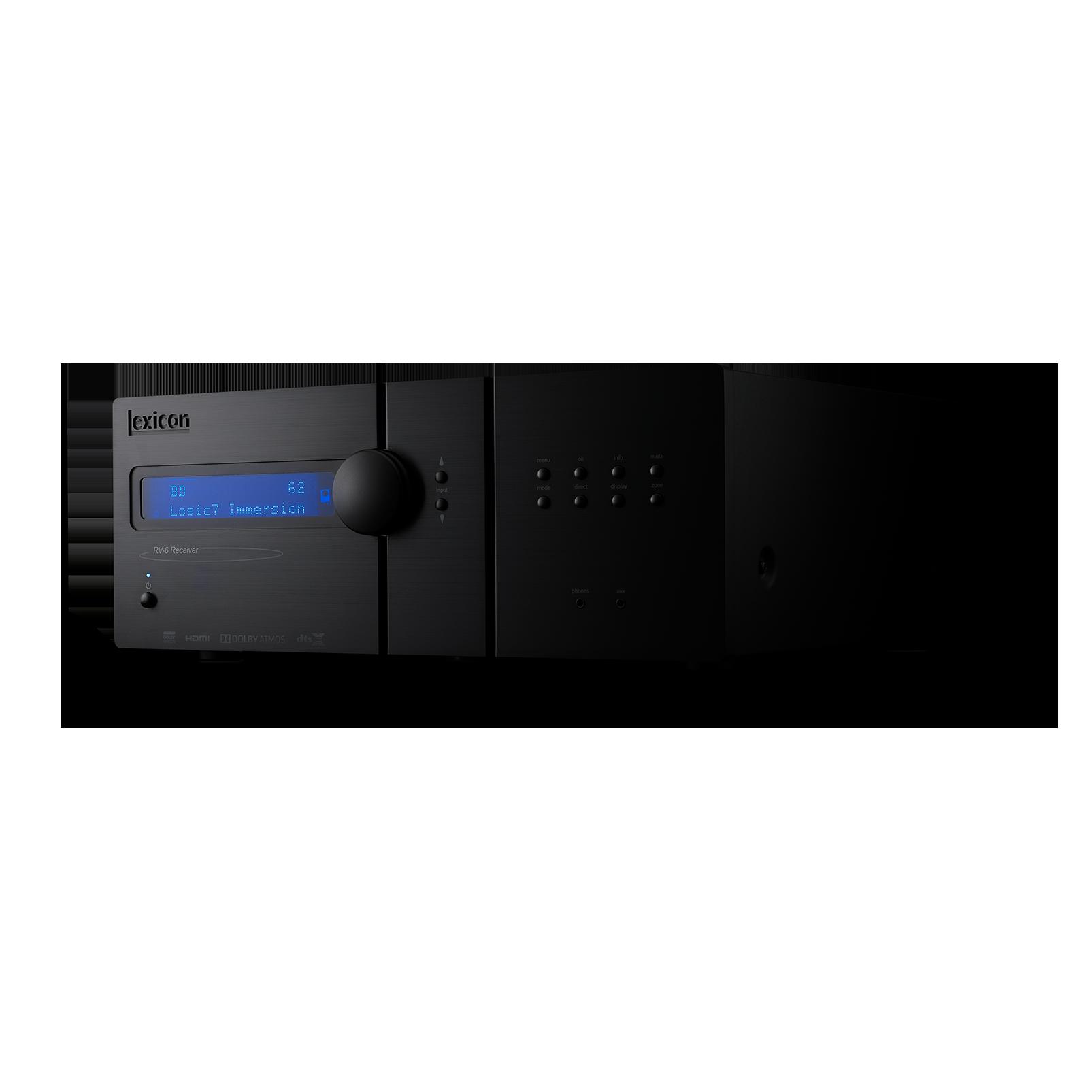 Lexicon RV-6 - Black - Immersive Surround Sound Receiver - Detailshot 2