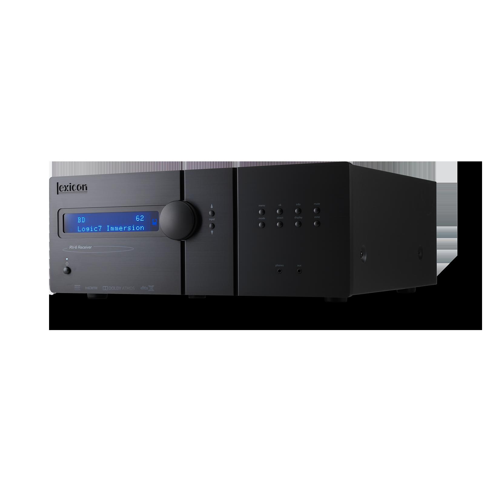 Lexicon RV-6 - Black - Immersive Surround Sound Receiver - Hero