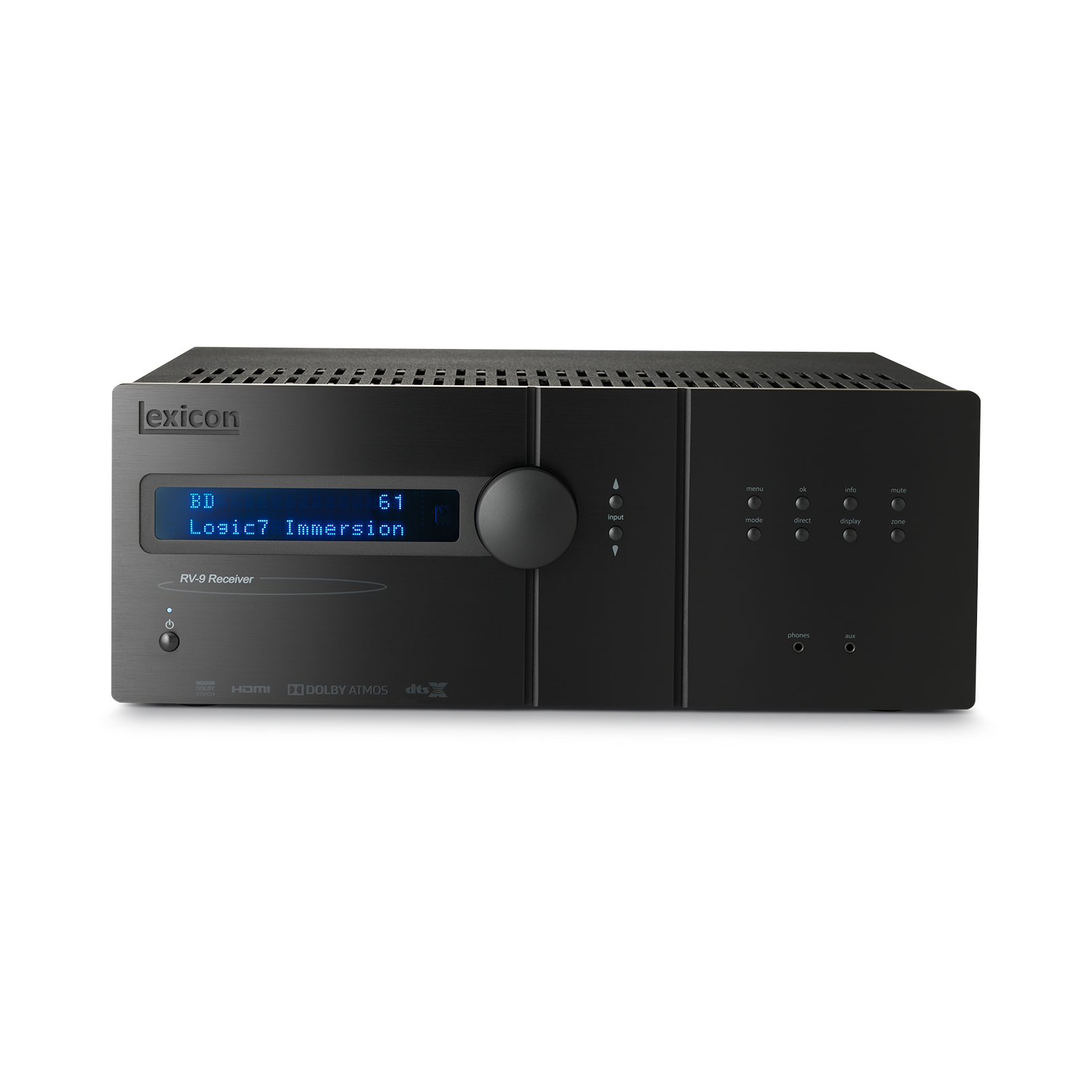 Lexicon RV-9 - Black - Class G Immersive Surround Sound AVR - Hero