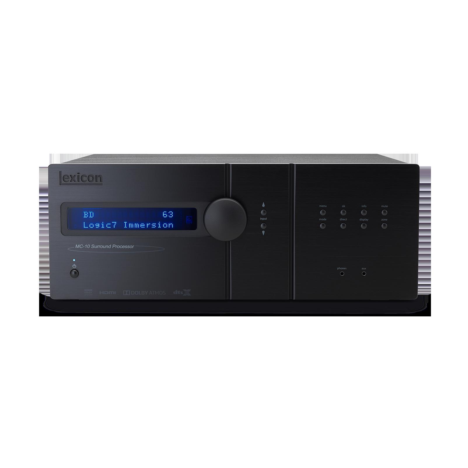 Lexicon MC-10 - Black - Immersive Surround Sound AV Processor - Front
