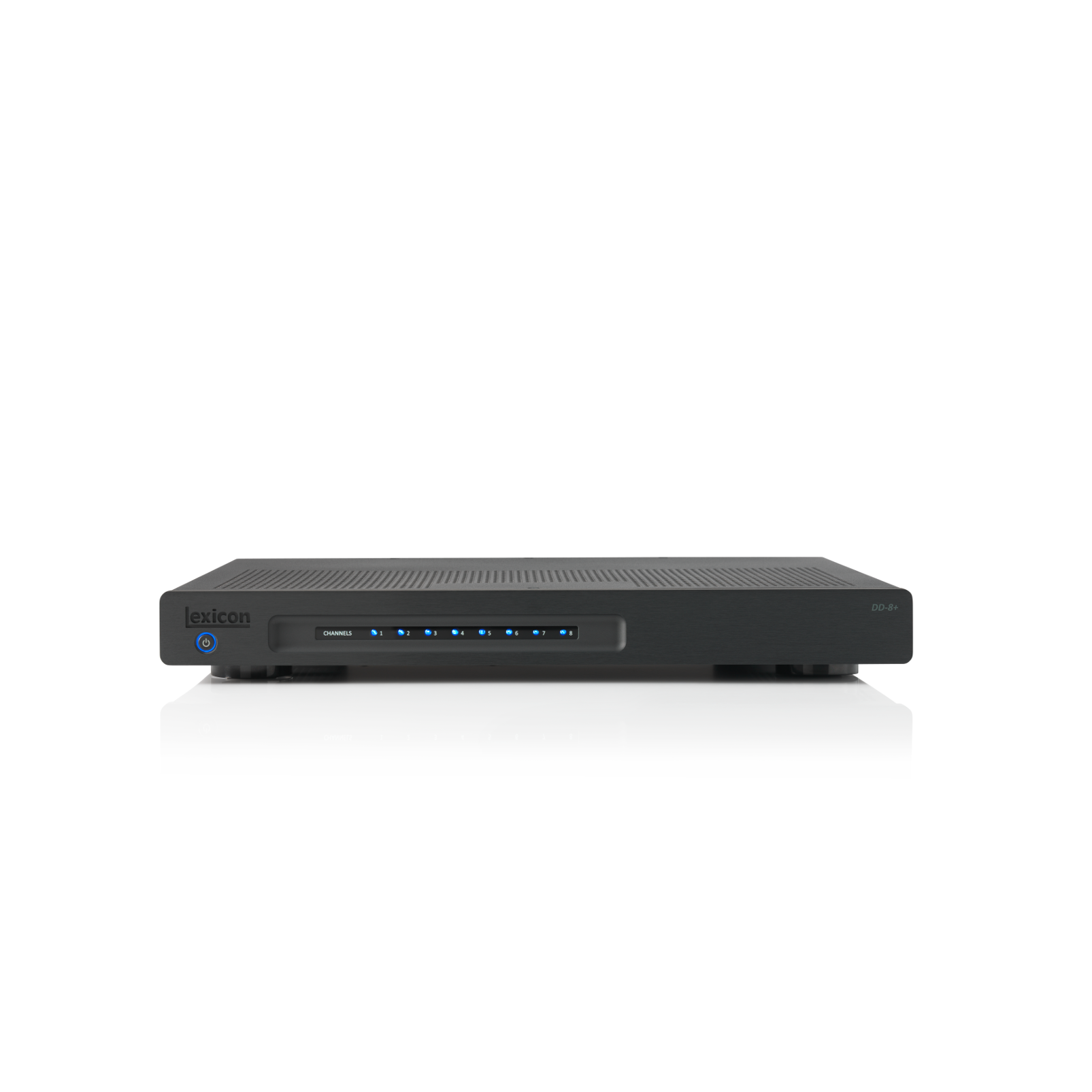 DD-8+ - Black - 8-Channel Network Amplifier - Front
