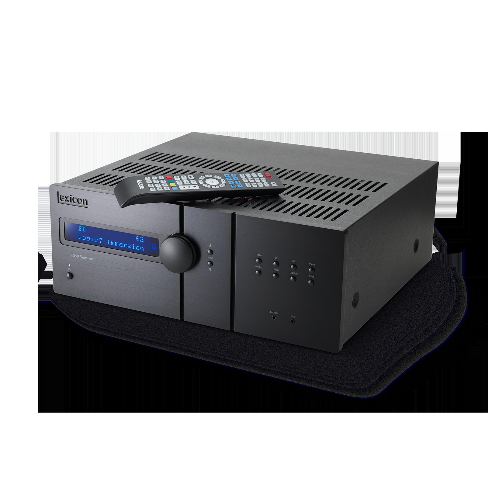Lexicon RV-6 - Black - Immersive Surround Sound Receiver - Detailshot 4