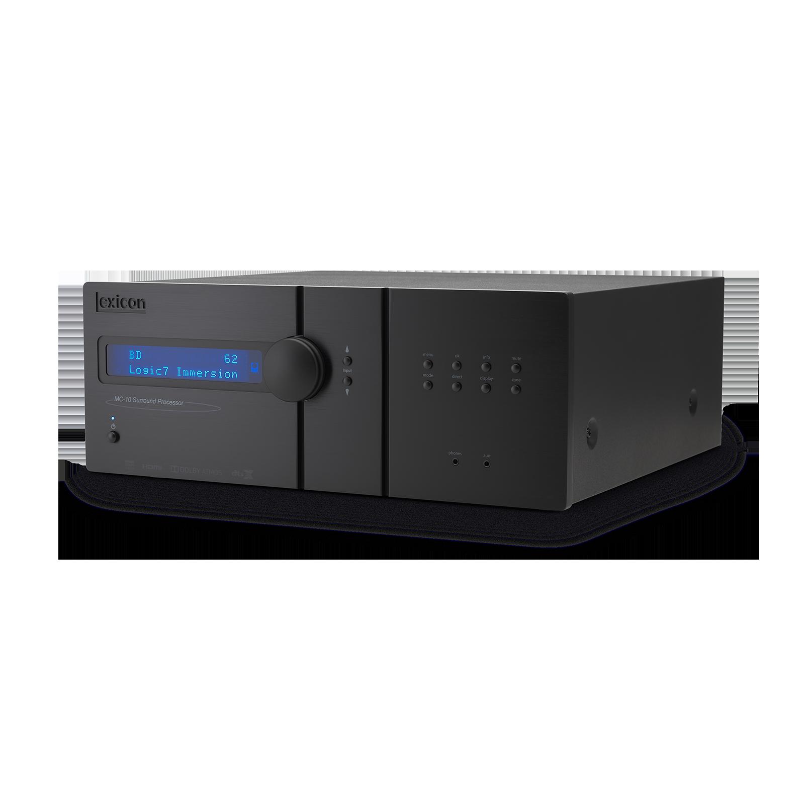 Lexicon MC-10 - Black - Immersive Surround Sound AV Processor - Hero