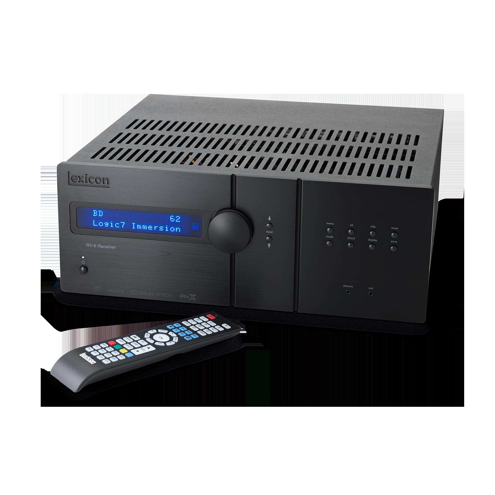 Lexicon RV-6 - Black - Immersive Surround Sound Receiver - Detailshot 1
